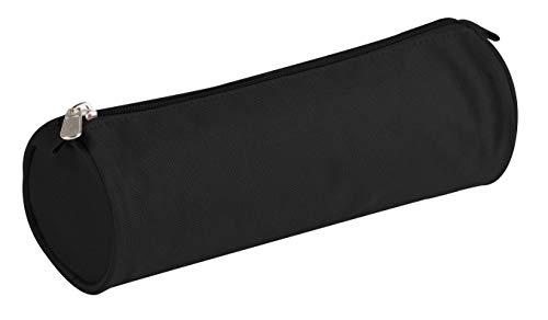 Clairefontaine 8113C - Grande Trousse Scolaire Ronde Basic Ø7x22 cm, Noir