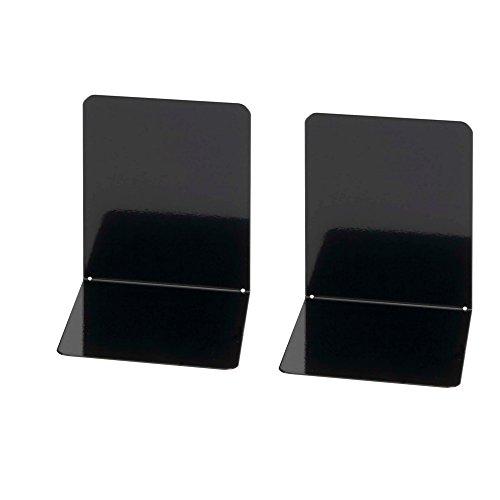 Wedo 1021101 Lot de 2 Serre-livres Noir