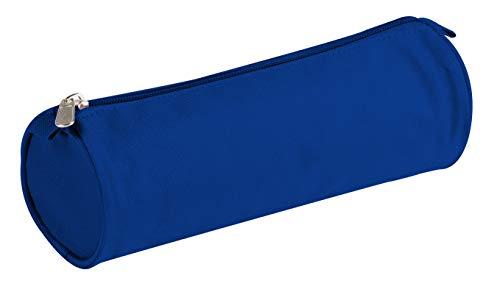 Clairefontaine 8111C - Grande Trousse Scolaire Ronde Basic Ø7x22 cm, Bleu