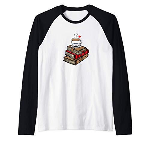 Coffee Lover Book Worm Science Fiction Roman Lover Reading Manche Raglan