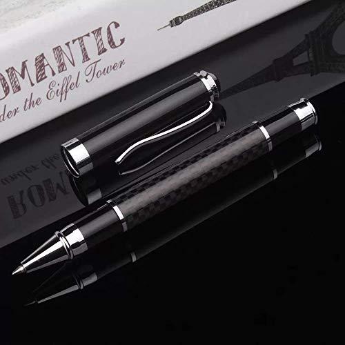 Funmo Stylo à bille, stylo à bille de luxe à plume avancée—Stylo à bille noir + recharge fine + boîte-cadeau le meilleur cadeau pour homme