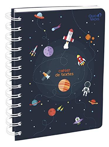 Quo Vadis Cosmos CAHIER DE TEXTES Spirale 15x21cm Espace