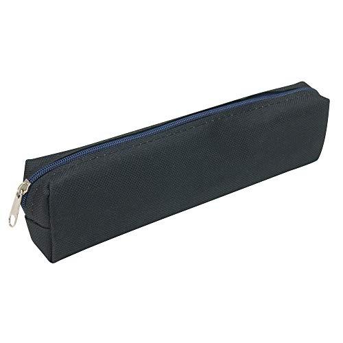 WAYTEX Trousse textile rectangulaire petit format 18 x 3.5 x 4.5 cm couleurs Noir
