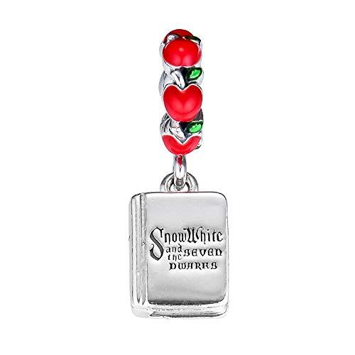 PANDOCCI 2018 Automne Blanche-Neige Les Sept Nains Livre Dangle Perle 925 Argent Bricolage Convient pour L'original Pandora Bracelets Charme Bijoux De Mode