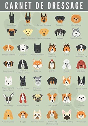 Carnet de Dressage: Canin | Dresser votre Chien & Chiot | Journal d'Apprentissage | Suivez l'éducation de votre Animal de compagnie | Grand format 104 pages | Cadeau Maître & Dresseur.