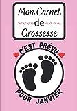 Mon Carnet de Grossesse : C'est prévu pour janvier.: Journal de grossesse à compléter, livre de grossesse et album de grossesse - Cadeau Femme Grossesse - 18 x 25cm 104 pages.