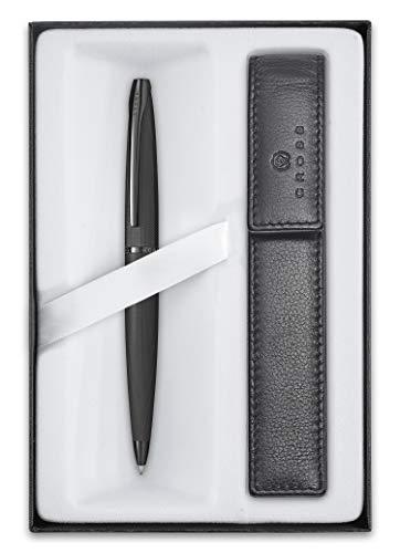 Cross ATX Coffret cadeau avec stylo à bille et étui Noir