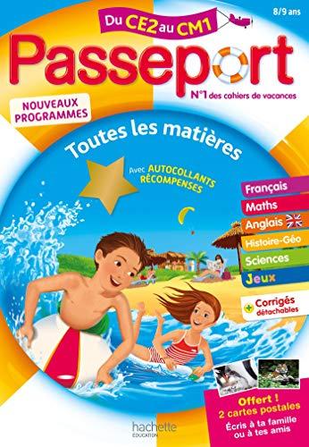 Passeport Cahier de Vacances 2020 - Toutes les matières du CE2 au CM1 - 8/9 ans