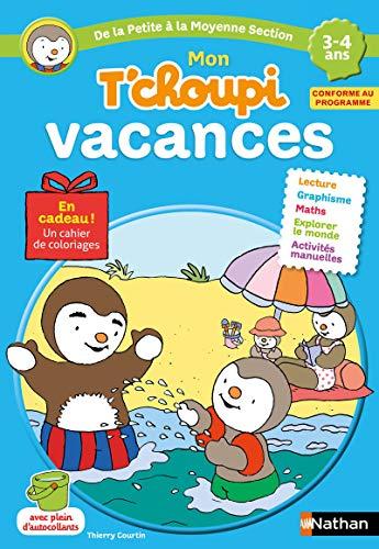 Cahier de vacances T'choupi - j'entre en Moyenne Section - maternelle 3/4 ans