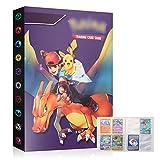 YNK Pokemon Album Classeur Livre Pokémon Carte Albums Pokemon GX EX Trainer Albums de Cartes à Collectionner 30 Pages Capacité de 240 Cartes (1)