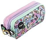 FRINGOO® - Trousse à crayons avec 3compartiments jolie et amusante - Pour enfant Large Holo Doodle - 3 Compartments