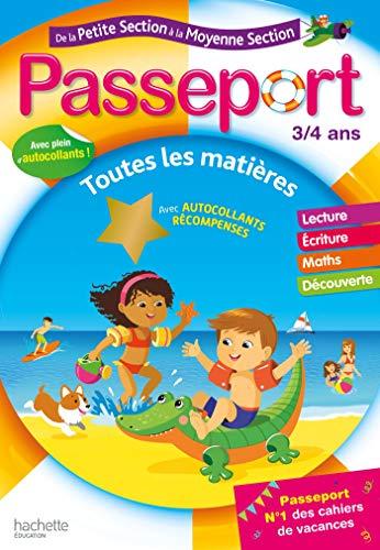 Passeport Cahier de Vacances 2020 de la PS à la MS - 3/4 ans