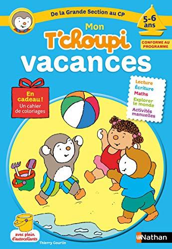 Cahier de vacances T'choupi - j'entre au CP - 5/6 ans