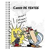 Clairefontaine 812868C - Un Cahier de textes à spirale Astérix 164 pages 17x22cm 90g grands carreaux, 12 pages BD d'Astérix inclus, couverture visuel aléatoire