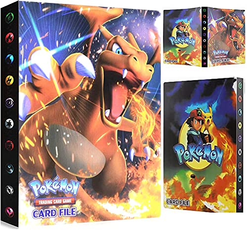 EMZOH Porte-cartes Pokémon, Album Carte, Cahier Carte, Livre Carte Album de Cartes à Collectionner, L'album a 30 Pages et Peut Contenir 240 Cartes (Charizard)