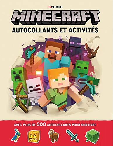 Minecraft : Autocollants et activités - Livre officiel Mojang - De 6 à 9 ans