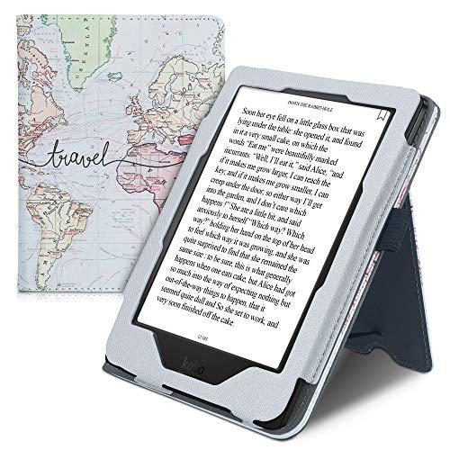 kwmobile Étui pour liseuse électronique Compatible avec Kobo Clara HD - Étui Housse Protection Noir-Multicolore