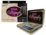 MONT MARTE Stylo Calligraphie Set - 33 pièces - Parfait pour les débutants - Inclus: 4x Stylo Calligraphie, 5x Plume de Calligraphie et bien plus - Excellente Introduction Calligraphie, Handlettering