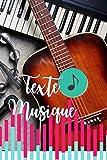 Cahier de texte Musique: Carnet de Musique