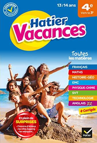 Cahier de vacances 2021 de la 4e vers la 3e : pour réviser son année dans toutes les matières (Hatier Vacances Collège)
