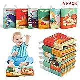 BelleStyle Livres pour bébés, 6PCS Livres d'éveil en Tissu Jouet Educatif Sensitive Book Cadeau pour enfants Bébé