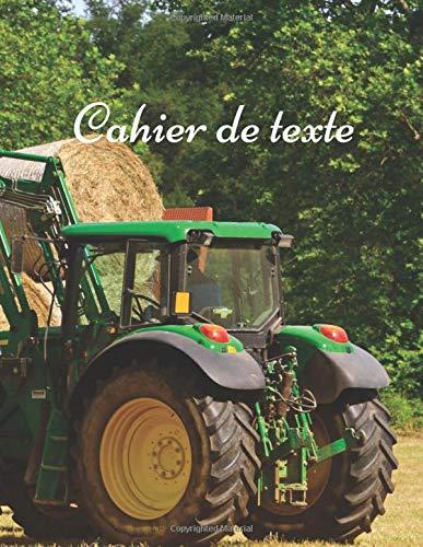 Cahier de Texte: Cahier de texte tracteur , un spécial cadeau pour la rentrée Scolaire | cahier de devoir | format pratique pour les cartables. Taille 8.5 x 11 in 121 Pages