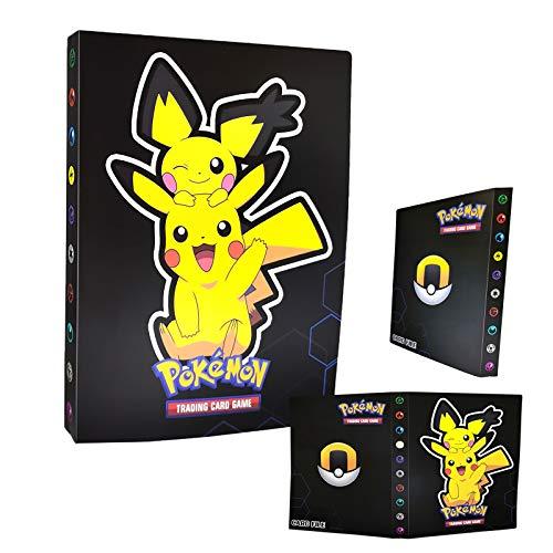 Porte-cartes Pokémon, Album de cartes Pokemon Trading, Livre de cartes Livre de cartes de collection Pokémon, L'album a 30 pages et peut contenir 240 cartes. (Pikachu3)