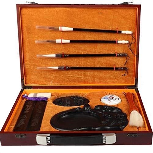 Écriture Kits Cadeaux Artisanaux, Calligraphie Kanji Pinceau Et Bâton D'encre, Coffret Cadeau Haut De Gamme Calligraphie