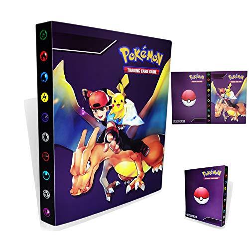 Porte-cartes Pokémon,Livre de cartes Livre de cartes de collection Pokémon, Album de dresseur Pokémon Card GX EX. L'album a 30 pages et peut contenir 240 cartes. (Ash Ketchum)