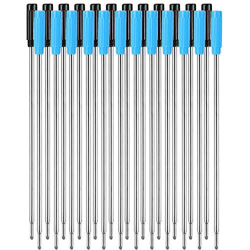 24 Pièces Recharges de Stylo à Bille Remplaçables Écriture Lisse 4,5 Pouces (11,6 Cm) et 1 mm Pointe Moyenne (Noir et Bleu)