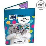 OXFORD Funny Pets Cahier de Textes avec 224 Pages Format 15x21cm Couverture Rembordé Rigide Chat
