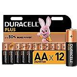 Duracell Plus, pack de 12 piles alcalines Type AA 1,5 Volts LR6 MX1500