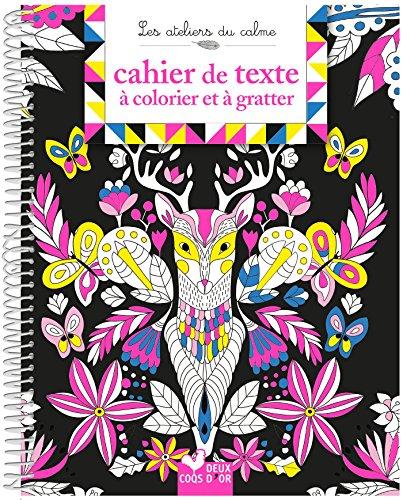 Cahier de texte à colorier et à gratter