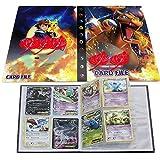 UHIPPO Pokémon Carte Album, Pokémon Cartes Titulaire, Pokémon classeur pour Cartes Album Livre Protection pour Pokémon Commerce Cartes GX EX boîte(Charizard)